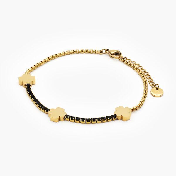 pulsera-acero-trebol-218-oro